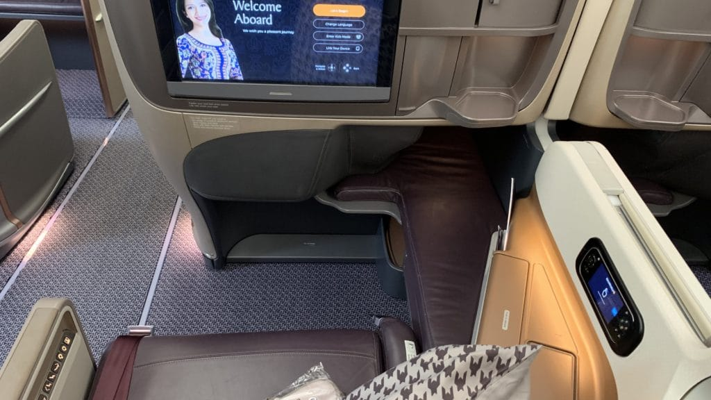 Singapore Airlines Business Class Airbus A350 Sitz 3
