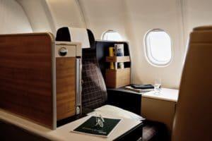 Swiss neue A340 Business Class
