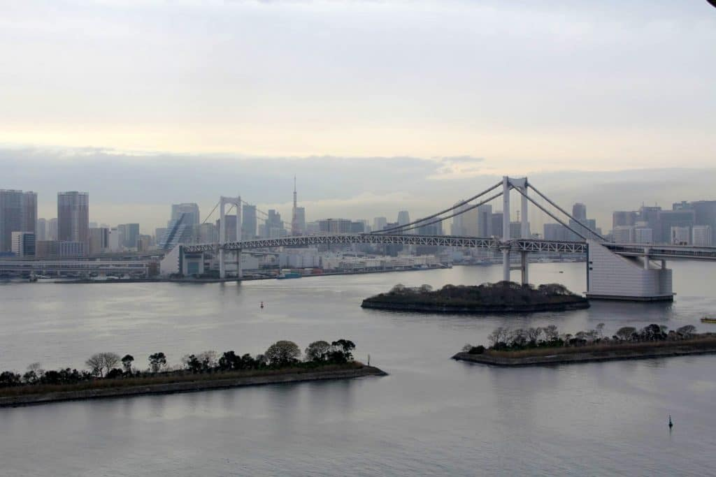 Tokio Skyline Rainbow Bridge