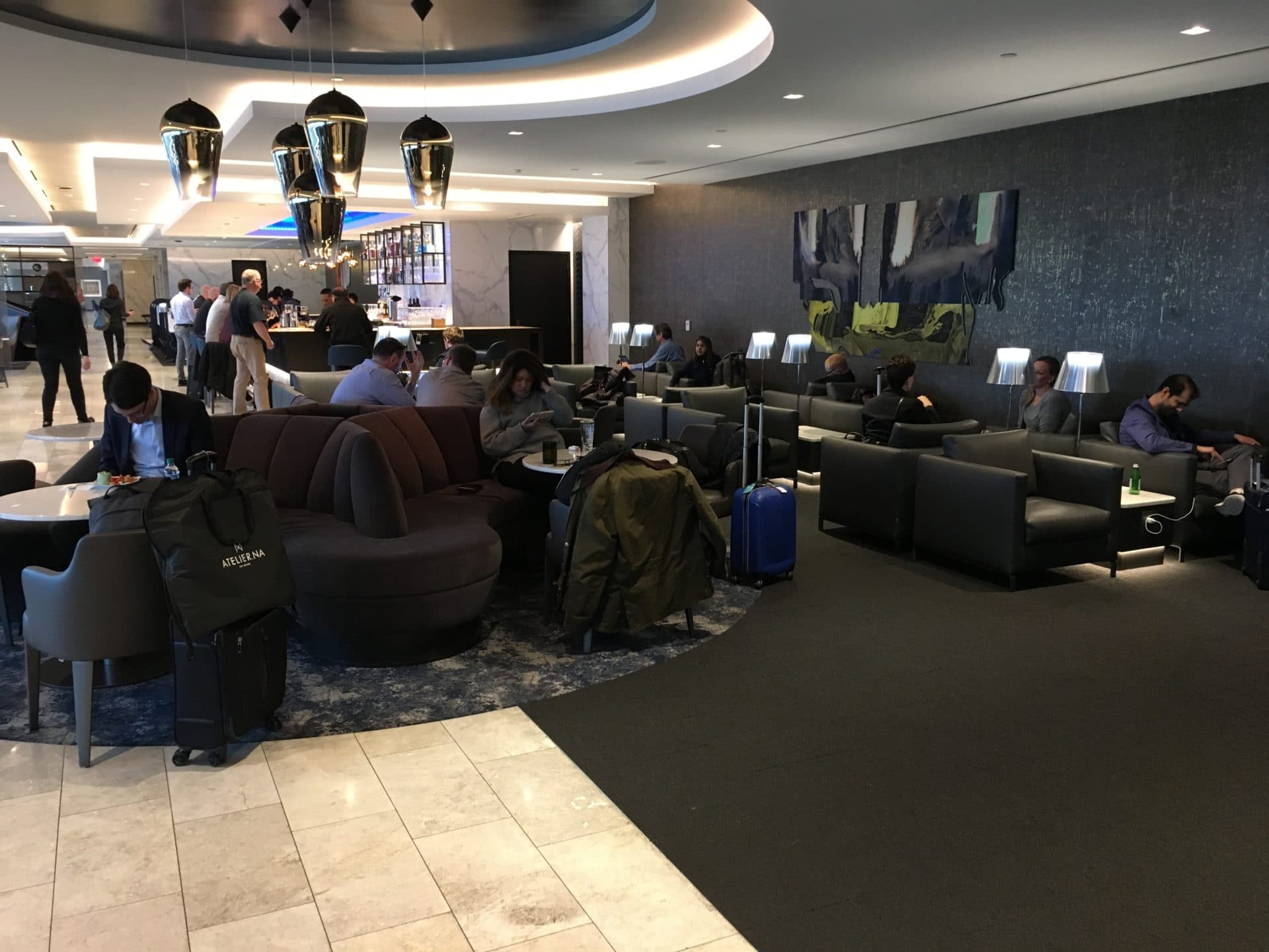 United Polaris Lounge San Francisco Gefüllt 2