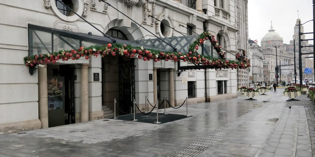 Waldorf Astoria Shanghai Eingang