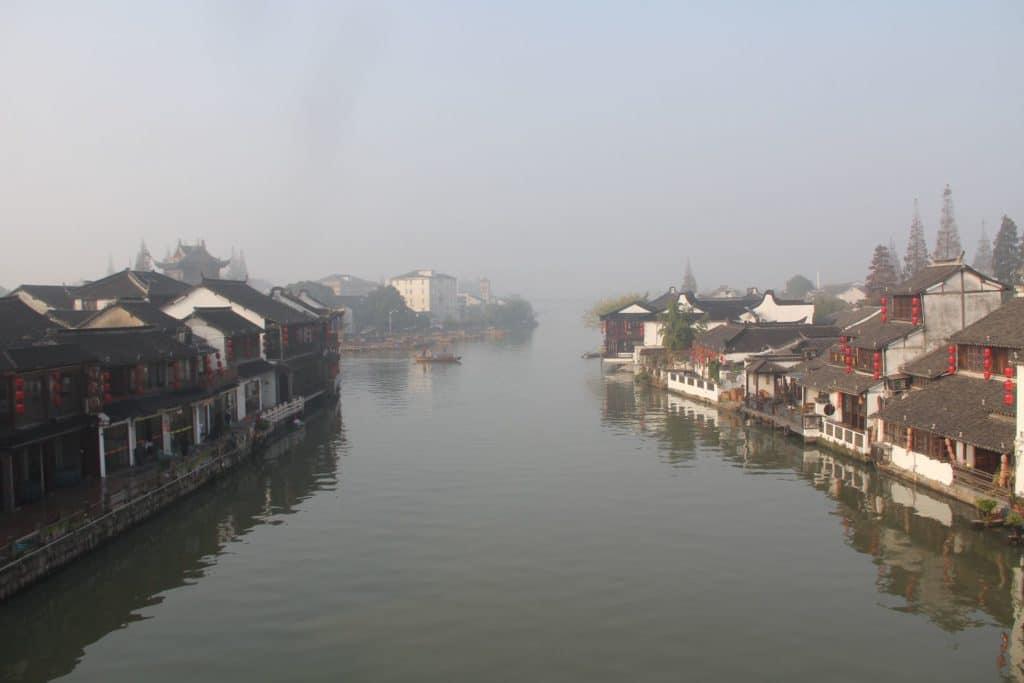 Zhujiajiao Fengshen Brücke Ausblick