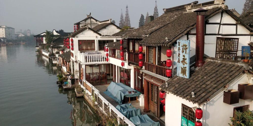 Zhujiajiao Fengshen Brücke Ausblick 3