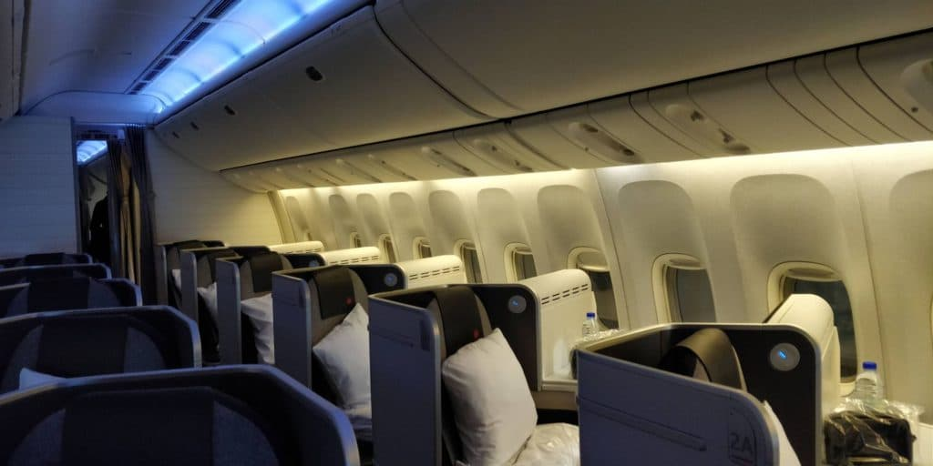 Air Canada Business Class Boeing 777 Sitz 2 Round the World Business First RTW Premium