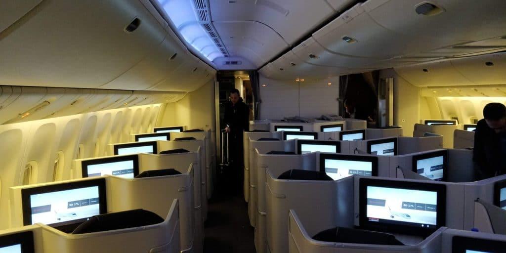 Air Canada Business Class Boeing 777 Sitz 5