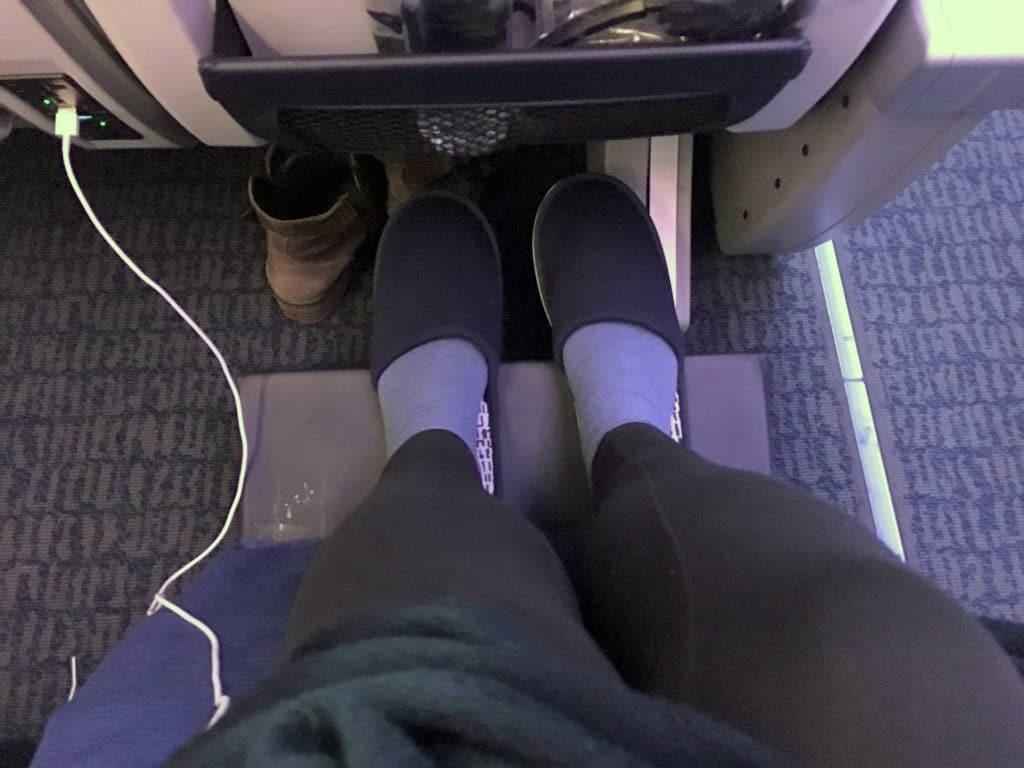 Air China Premium Economy Class Fußablage