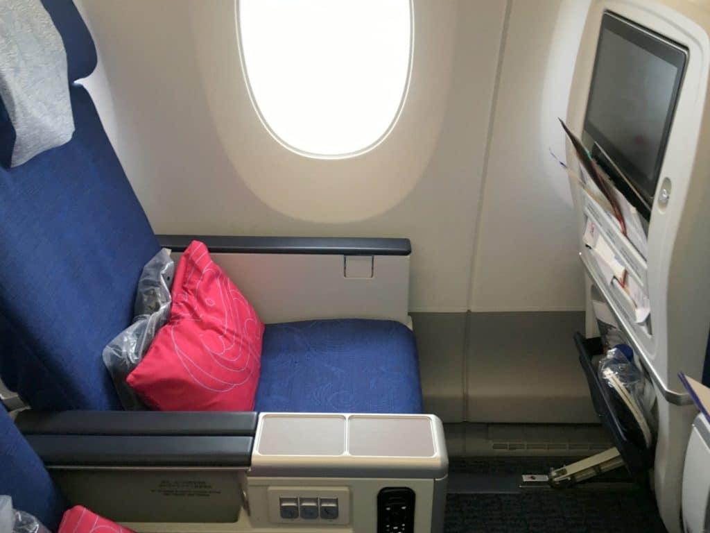 Air China Premium Economy Class Sitz