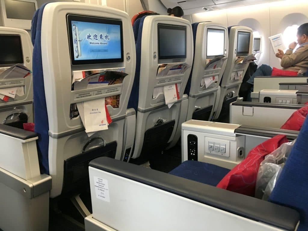 Air China Premium Economy Class Sitz 7