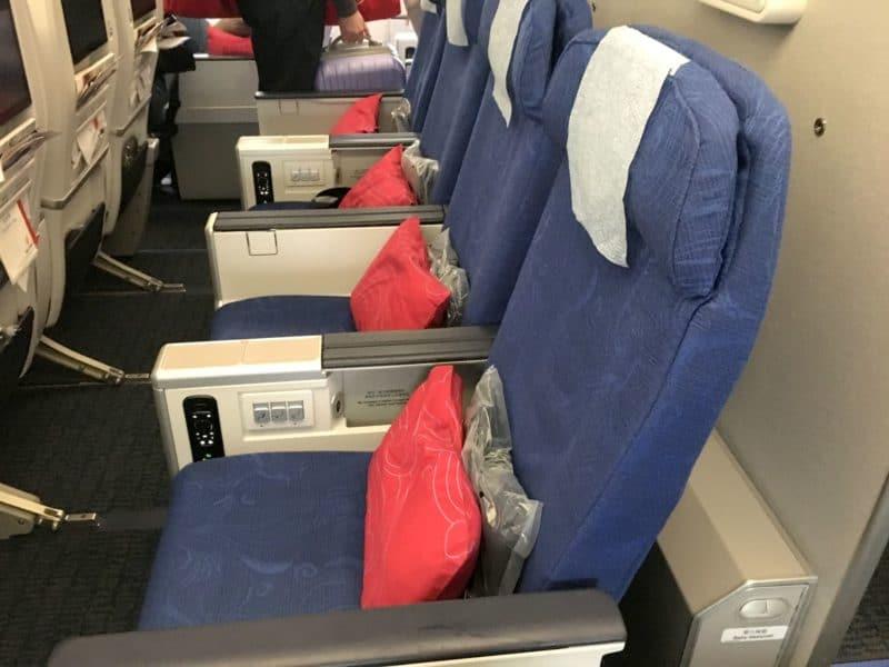 Air China Premium Economy Class Sitz 8