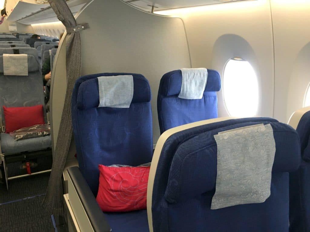 Air China Premium Economy Class Sitz 9