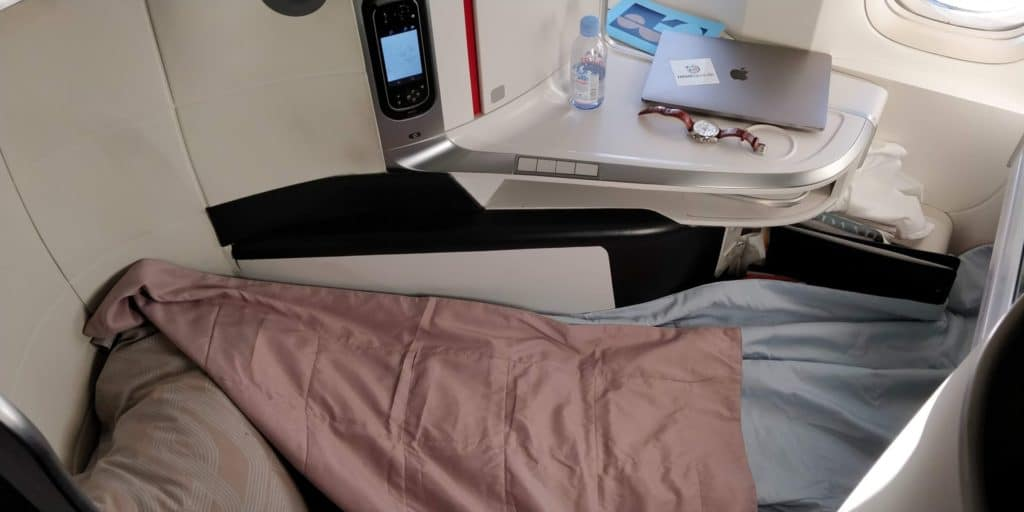 Air France Business Class Bett 2