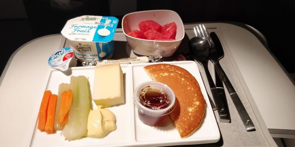 Air France Business Class Kurzstrecke Frühstück
