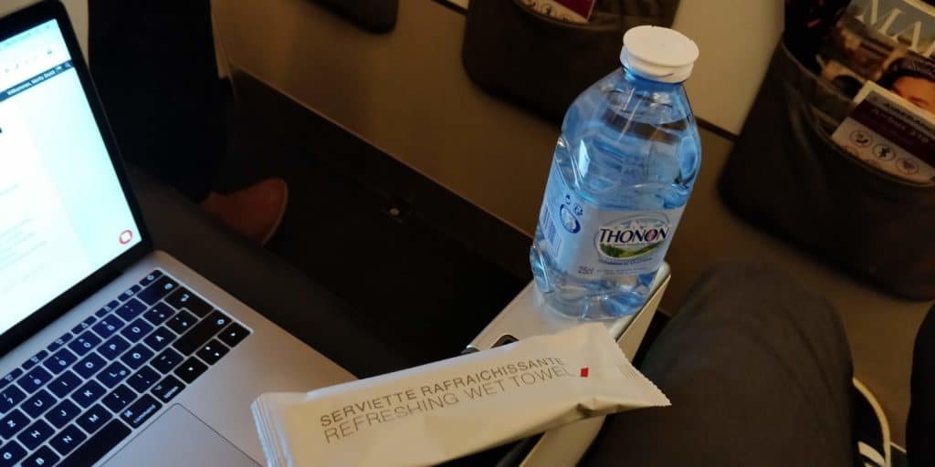 Air France Business Class Kurzstrecke Snack