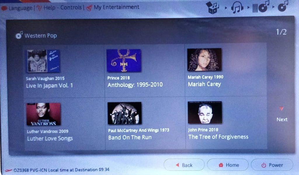 Asiana Business Class Kurzstrecke Entertainment 4