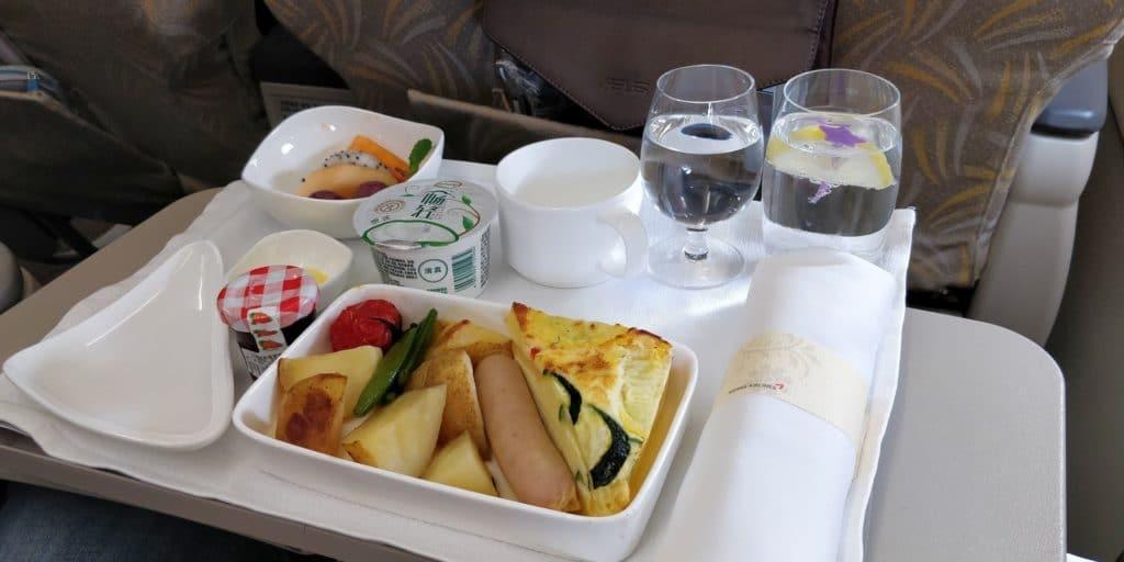 Asiana Business Class Kurzstrecke Frühstück