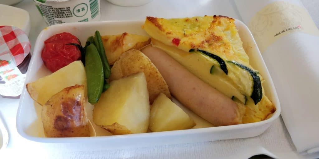 Asiana Business Class Kurzstrecke Frühstück 2