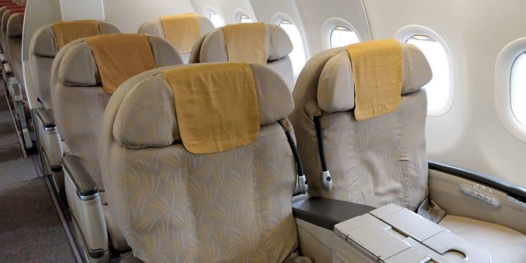 Asiana Business Class Kurzstrecke Sitz