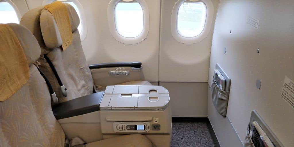 Asiana Business Class Kurzstrecke Sitz 2