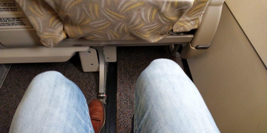 Asiana Business Class Kurzstrecke Sitzabstand