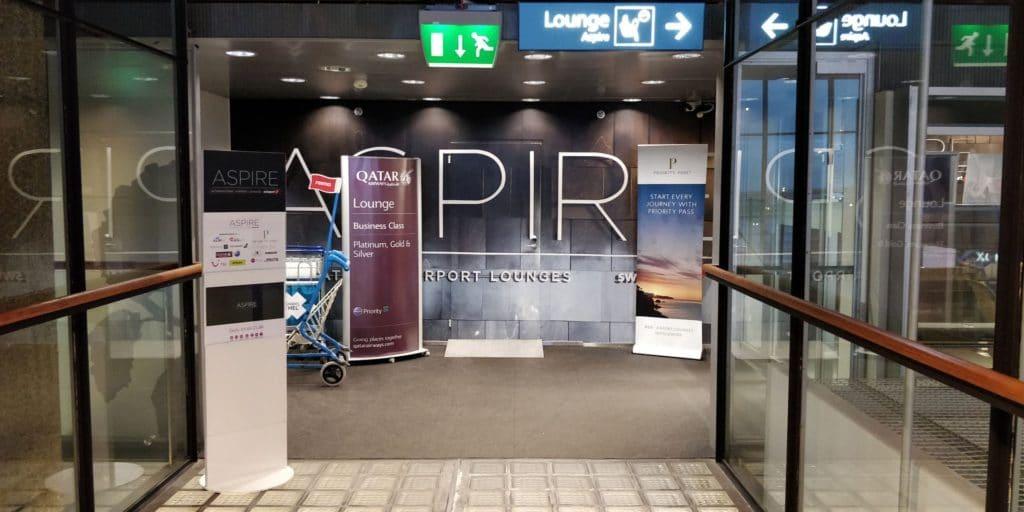 Aspire Lounge Helsinki Eingang