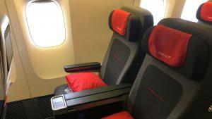 Austrian Airlines Premium Economy Class Sitz 3