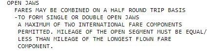 BA Q Open Jaw Gabelflug