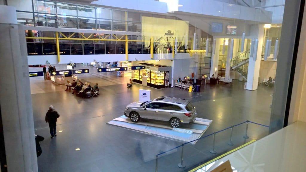 Business Lounge Vilnius Ausblick
