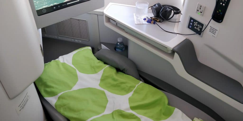 Finnair Business Class Airbus A350 Bett 2