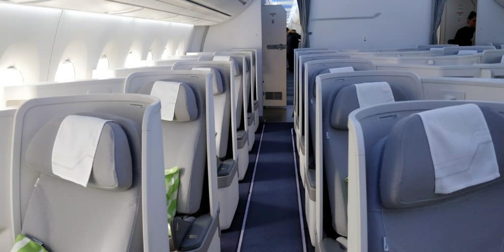 Finnair Business Class Airbus A350 Kabine