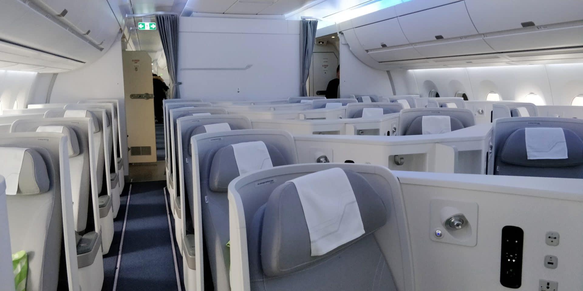 Finnair Business Class Airbus A350 Kabine 2