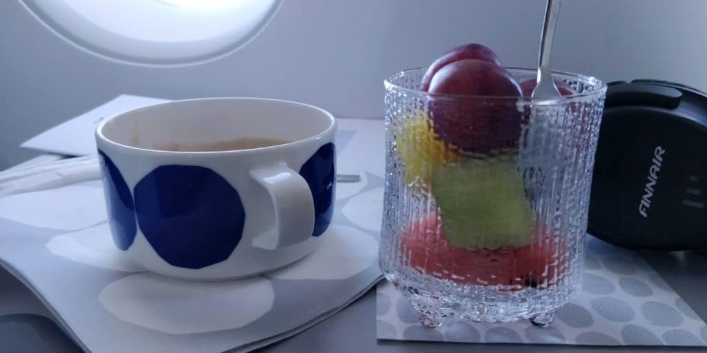 Finnair Business Class Airbus A350 Snack 2