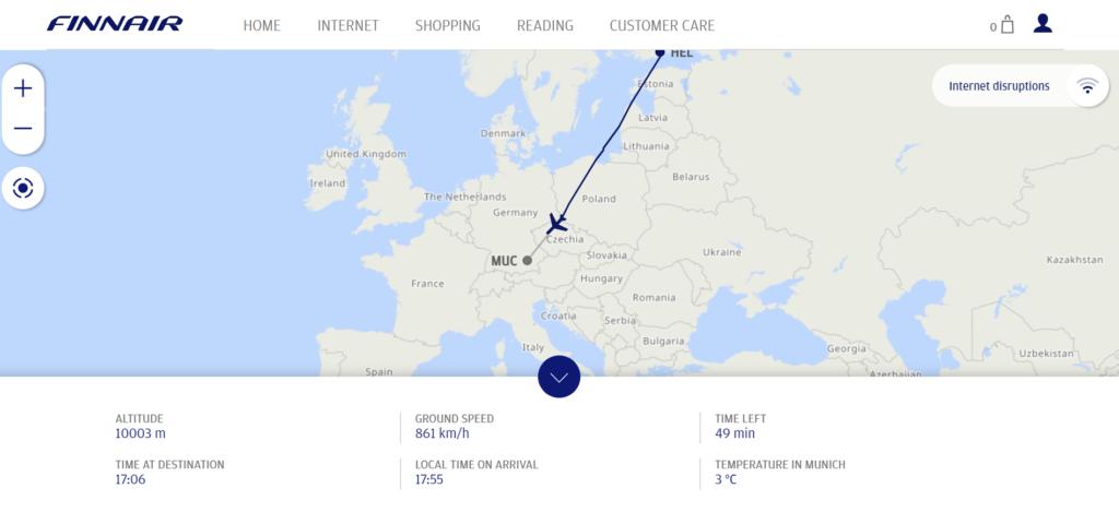 Finnair Map