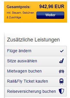 Rail & Fly Buchung Lufthansa