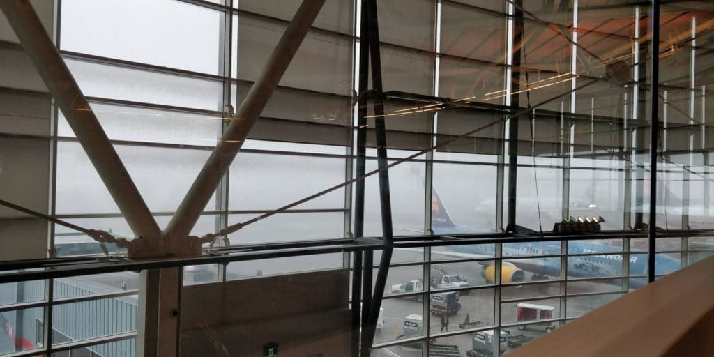 Skyteam Lounge Vancouver Aussicht
