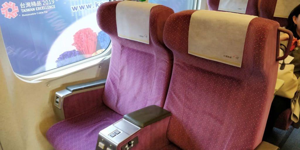 Taiwan HSR First Class Sitz