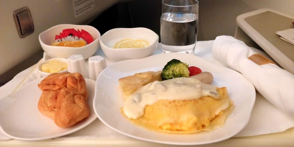 Vietnam Airlines Boeing 787 Business Class Frühstück