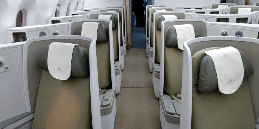 Vietnam Airlines Boeing 787 Business Class Kabine