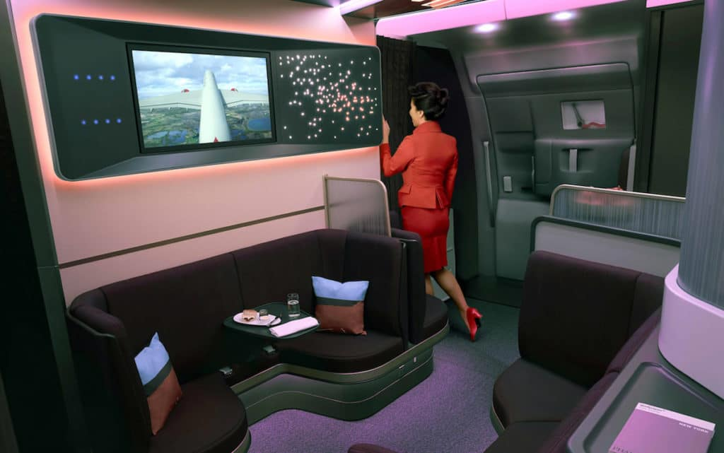 Virgin Atlantic Social Area