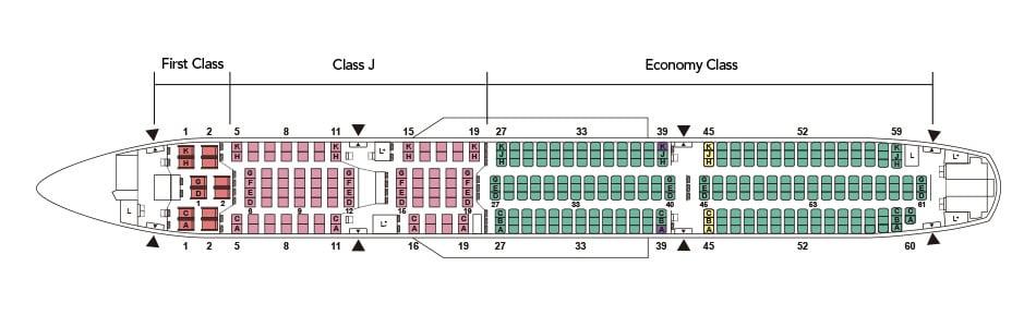 Japan Airlines A350-900 Seatmap