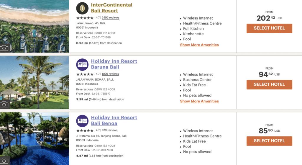 Intercontinental Resort Bali 3 für 2
