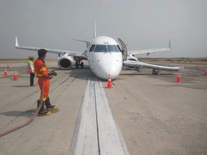 Myanmar Airlines Notlandung