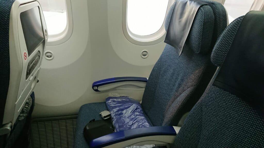 ANA B787 Economy Sitz