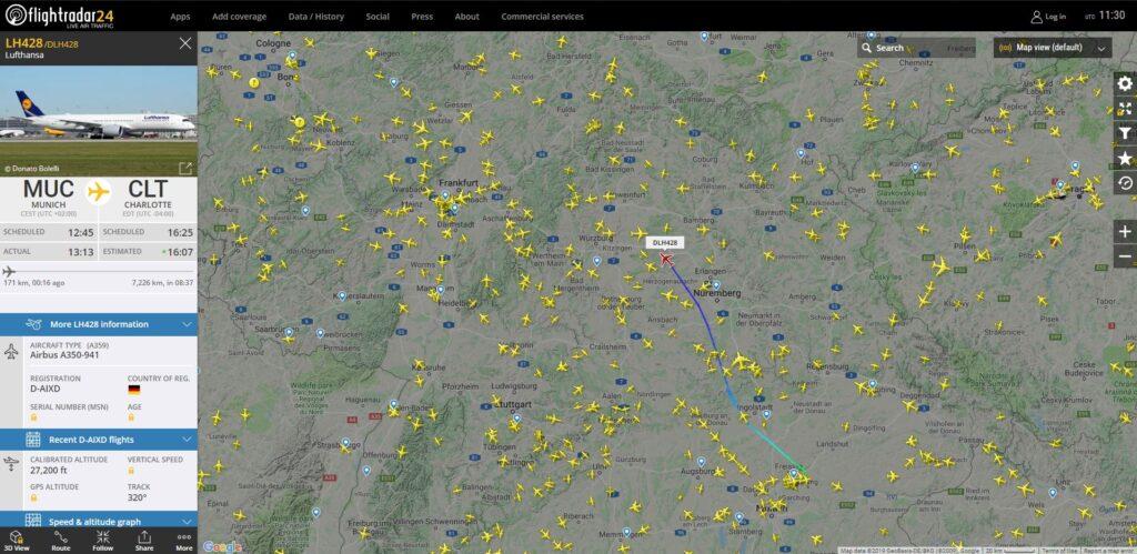Flightradar24 Flugverfolgung Flugnummer
