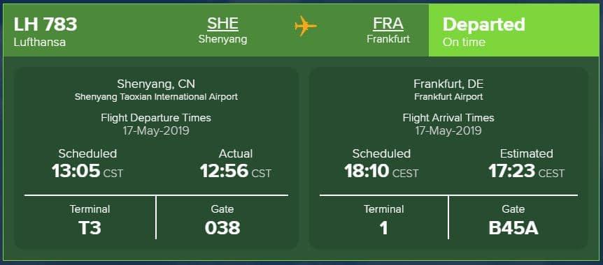 Flightstats Lufthansa ETD ETA STD STA ATA ATD