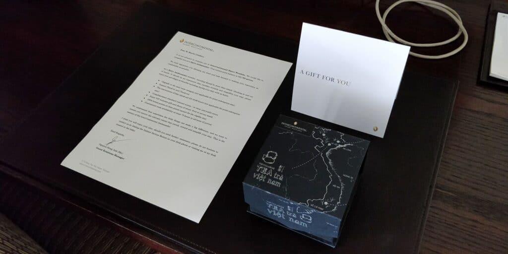 InterContinental Hanoi Westlake Willkommensgeschenk