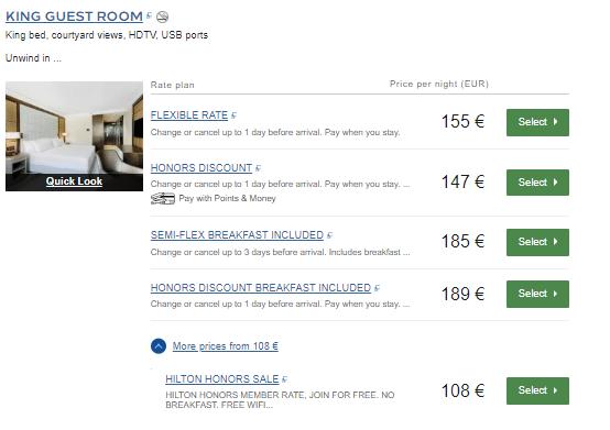 Screenshot Hilton Budapest