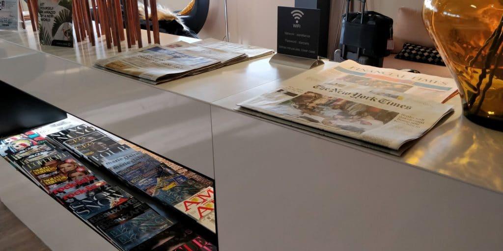 Star Alliance First Class Lounge Paris Zeitungen
