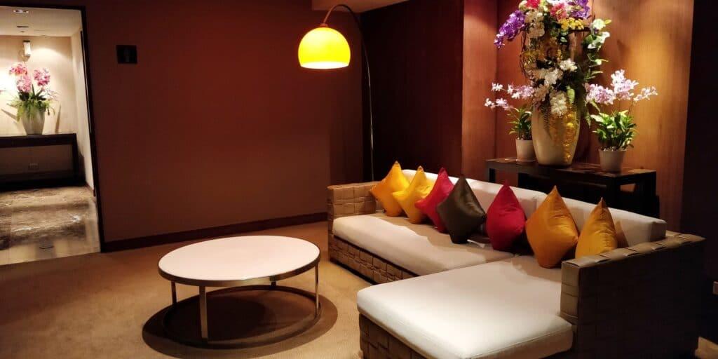 Thai Airways FIrst Class Lounge Bangkok Toiletten