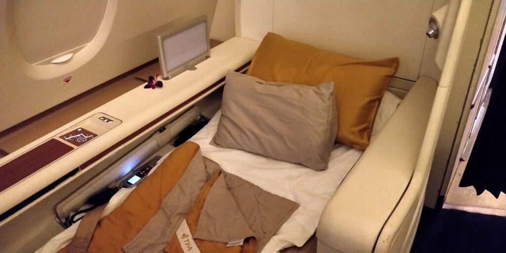 Thai Airways First Class Airbus A380 Bett