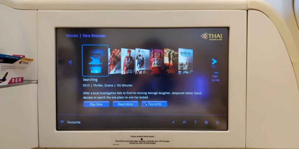 Thai Airways First Class Airbus A380 Entertainment 3
